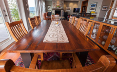 The dining table and chairs were also made locally, as was the coffee table. Photograph by: Debra Brash